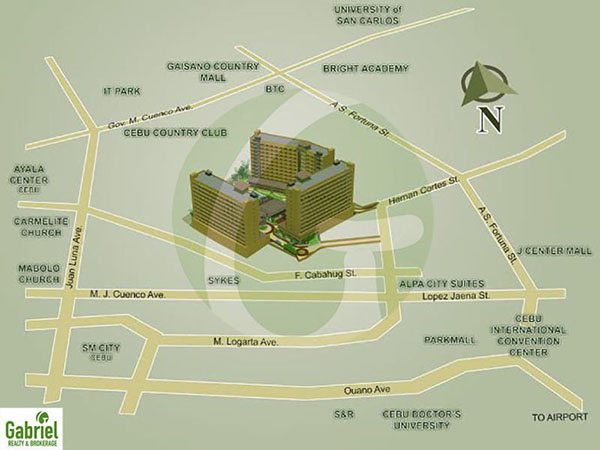 the location which is at the center of everything in cebu