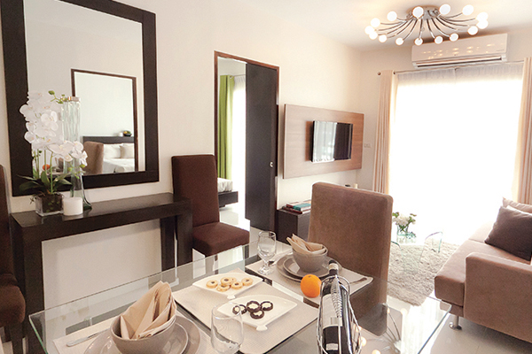48 sqm TWO BEDROOM fully furnished