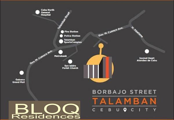 vicinity map of bloq residences talamban