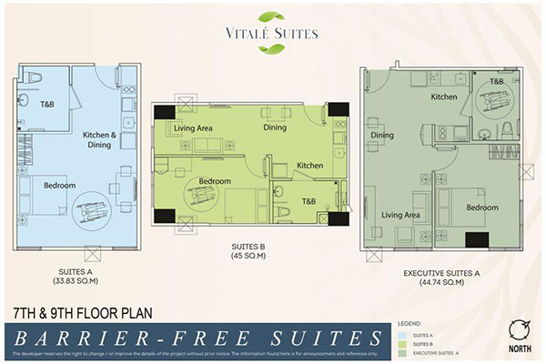 barrier-free suites typical floor plans