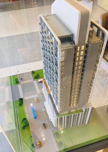 scale model showing the majestic project