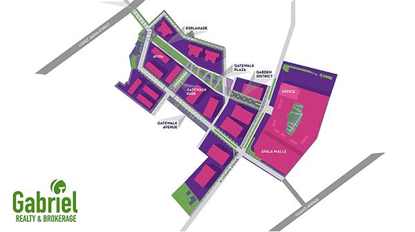 the master plan of avida towers gatewalk central