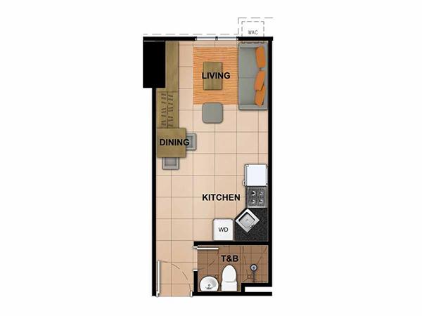 studio residential condominium floor plan
