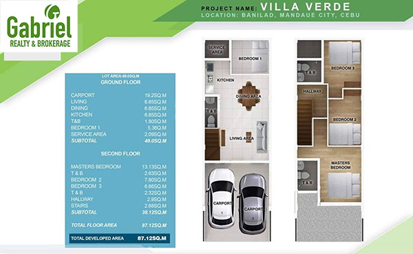 floor plan of the townhouse for sale