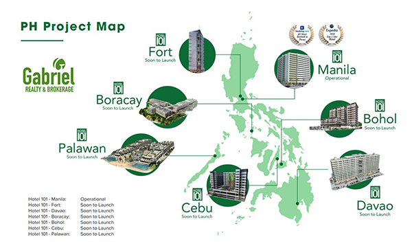hotel 101 projects nationwide