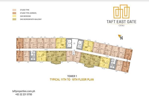 taft east gate floor plan