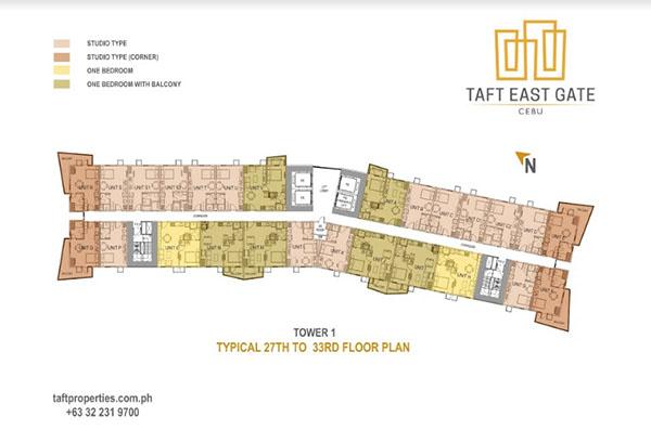 building floor plan of taft east gate
