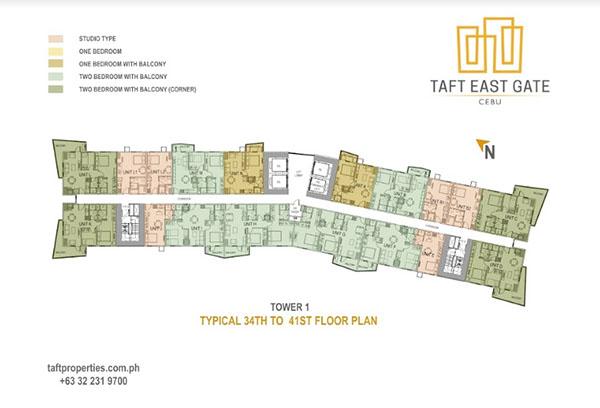 building floor plan of taft east gate cebu