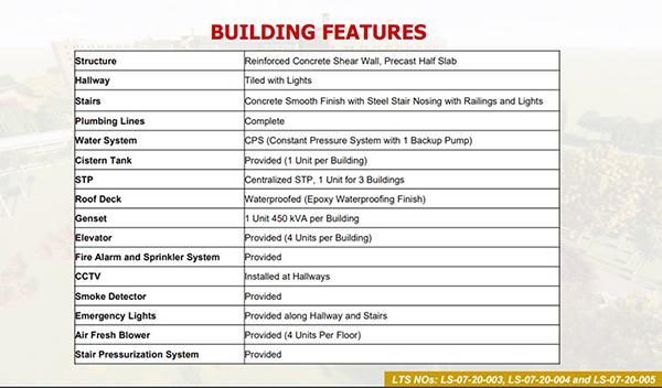 building features in urban deca homes banilad