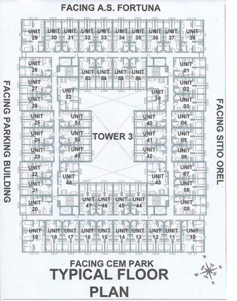 floor plan of deca banilad