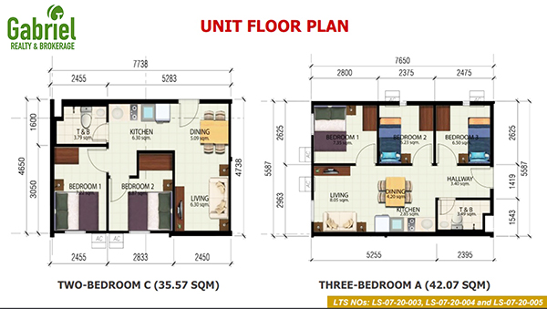 2 bedroom unit floor plan in deca banilad