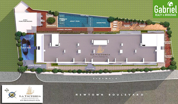site development plan of la victoria global residences