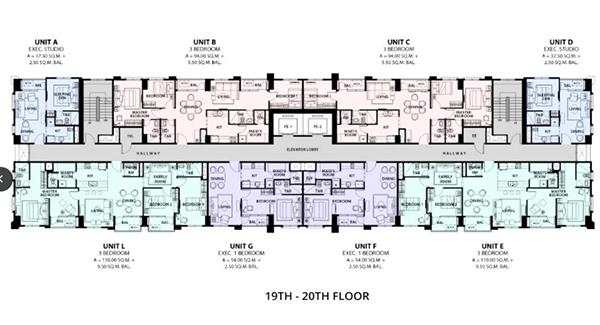 floor plan of la victoria residences