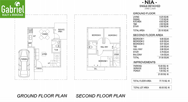 nia floor plan, a single detached house for sale in danao