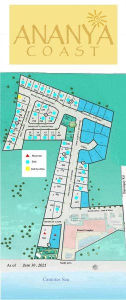 lot map of ananya coast liloan