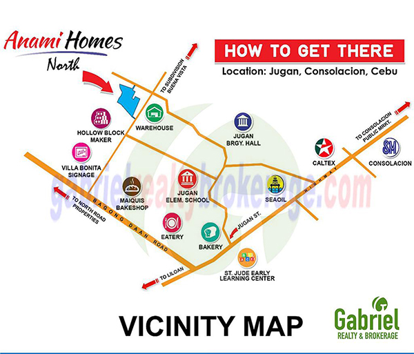 vicinity map of anami homes north shophouse