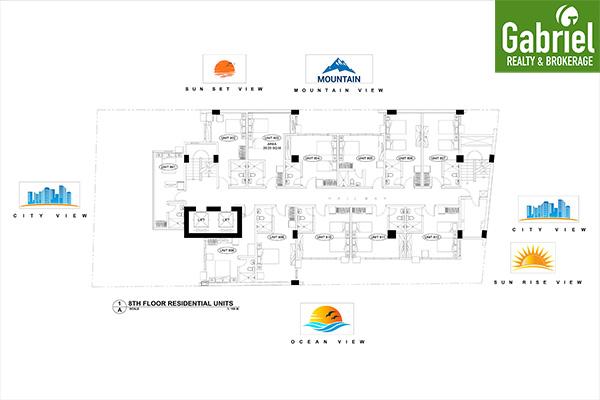 building floor plan, cityscape tower 2 uptown condominium