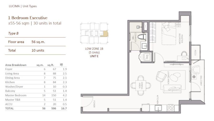 lucima 1br floor plan