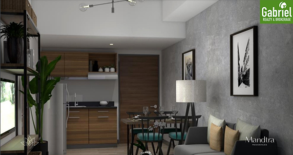 1 bedroom floor lay out, mandtra residences