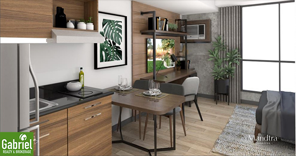 studio floor lay out, mandtra residences