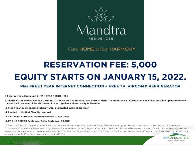mandtra residences promo