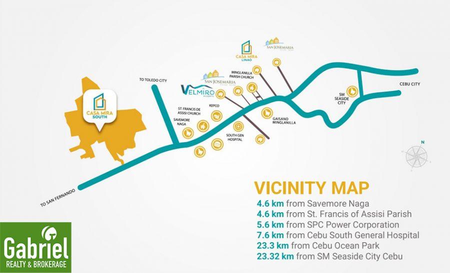 vicinity map, casa mira south expansion