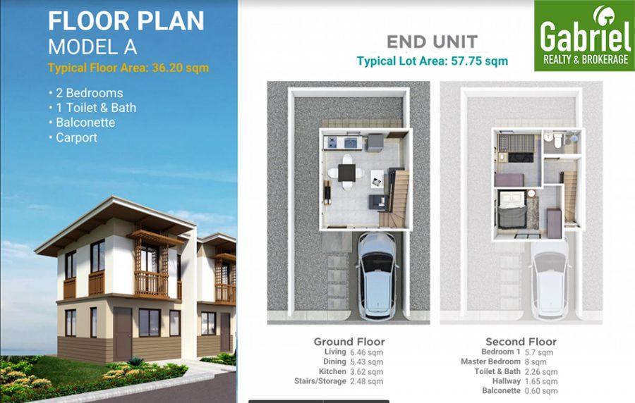 townhouse A floor plan