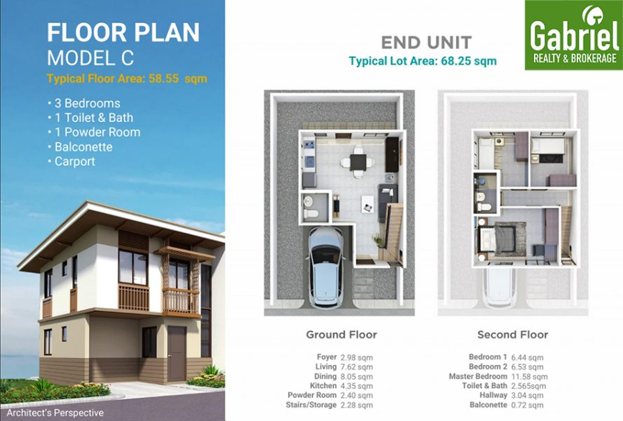 casa mira south floor plan townhouse model c