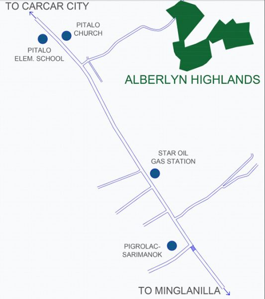 vicinity map of alberlyn highlands