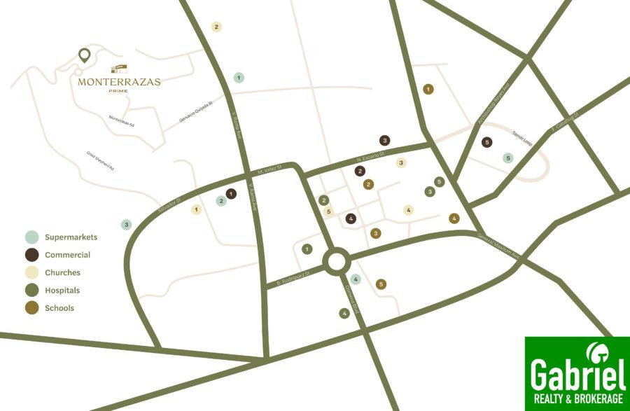 Monterrazas Price location