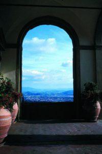 """Villa San Michele"" 2004) in the New Arts Gallery show."