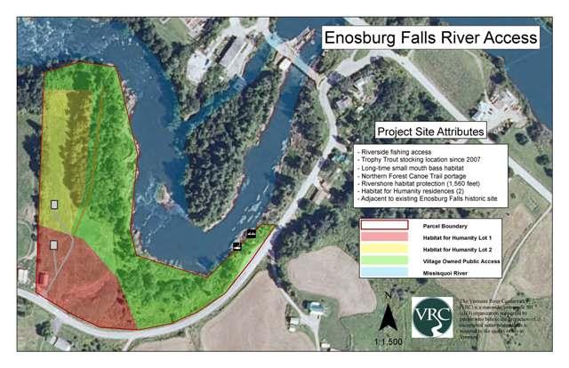 Enosburg Falls property map