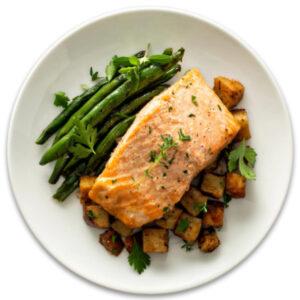 Low FODMAP salmon dish