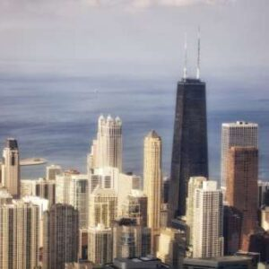 Chicago skyline (color) by Stein