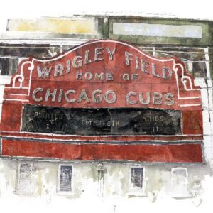 Red-Chicago-Cubs-sign Chicago local art