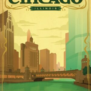 Vintage Chicago Poster St. Patrick's Day