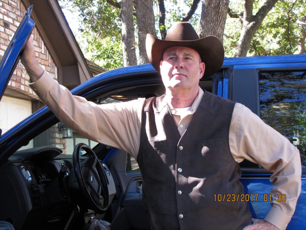 Best selling Author of Suspense and Thrillers PG Barnett with his trusty F150 Pick Up Truck