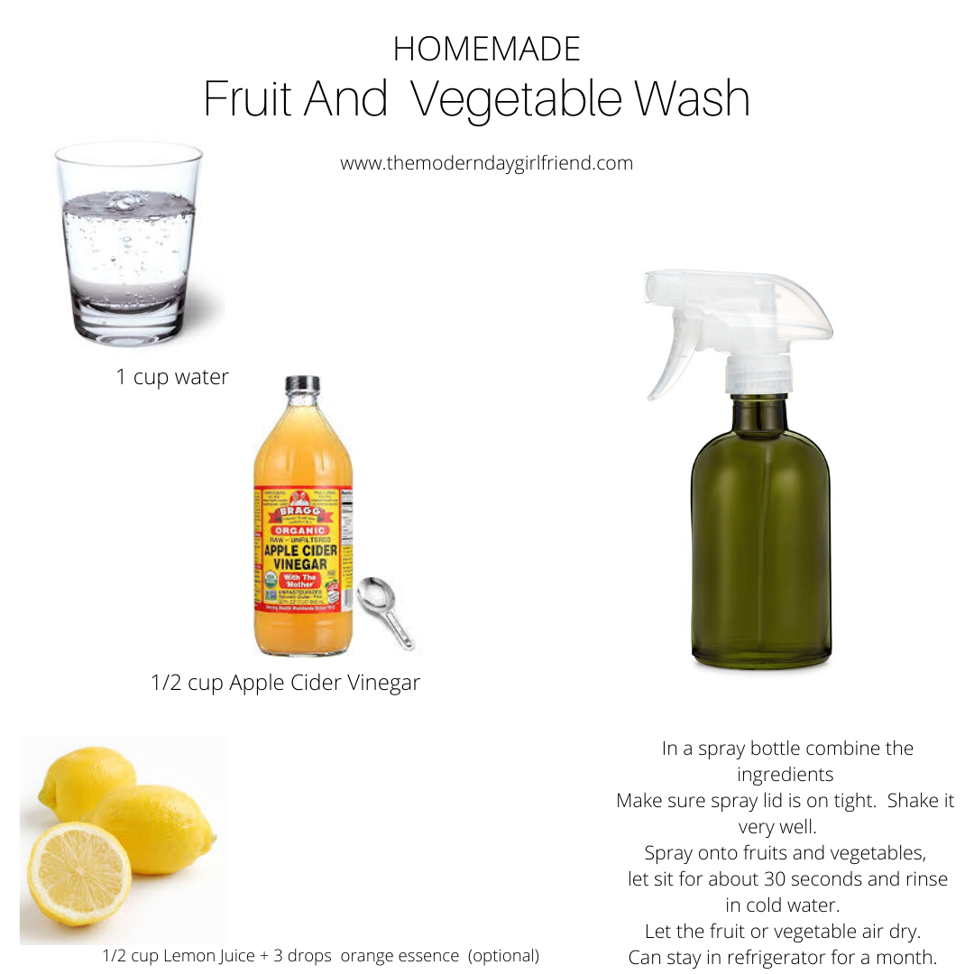 Homemade fruit and vegetable wash the modern day girlfriend