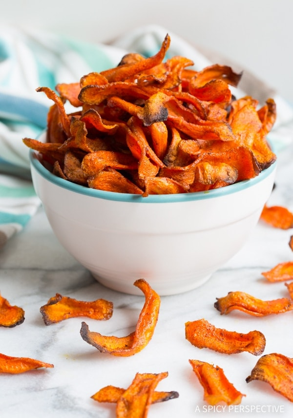 Healthy snack Baked-Carrot-Chips