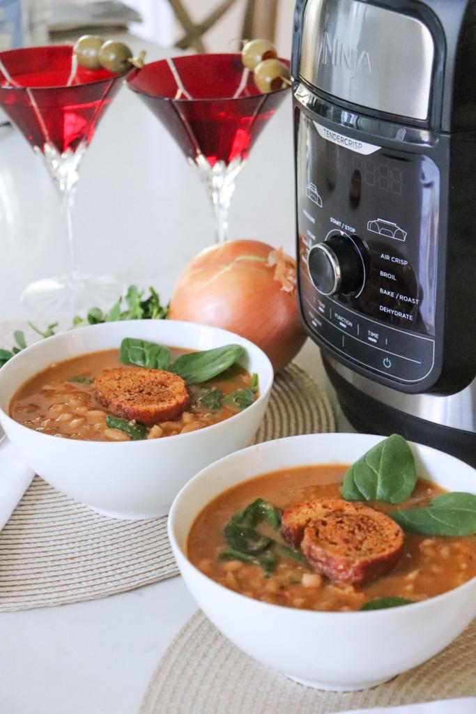 Vegan White Bean Soup In A Foodi Pressure Cooker