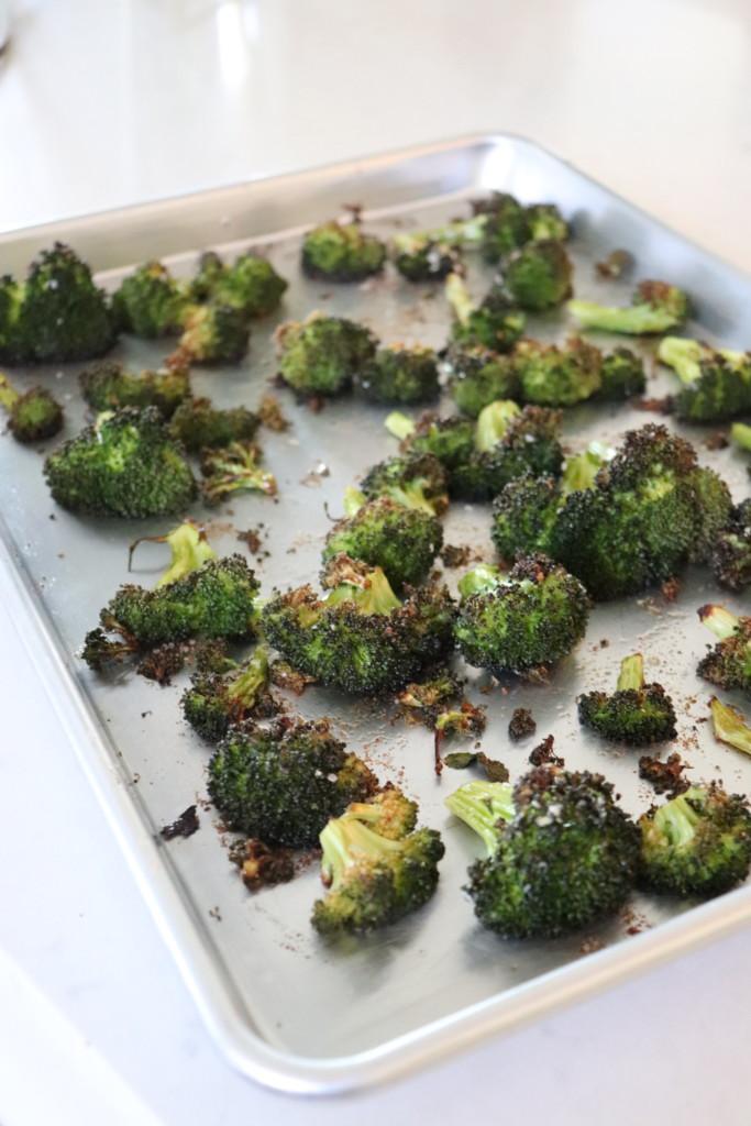 vegan side dish roasted broccoli