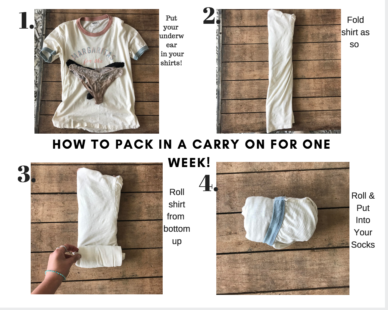 HOw To Pack In A Carry On For One Week!