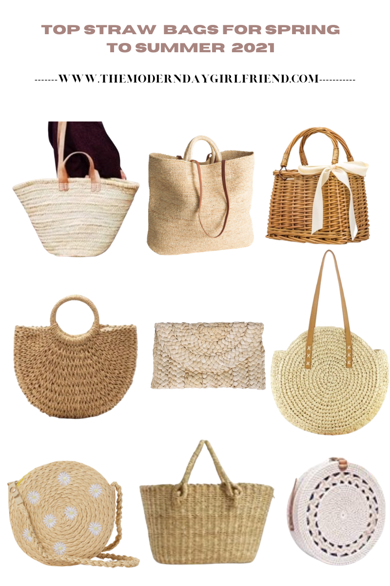 straw bags for summer and spring the modern day girlfriend