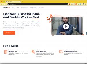 screenshot of the Offline2On website