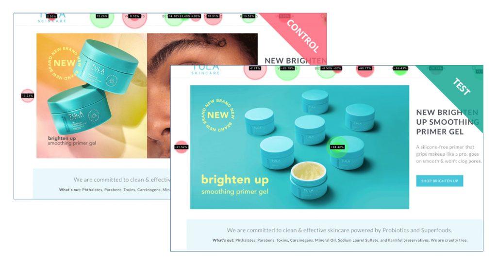 TULA Skincare Desktop hero image experiment