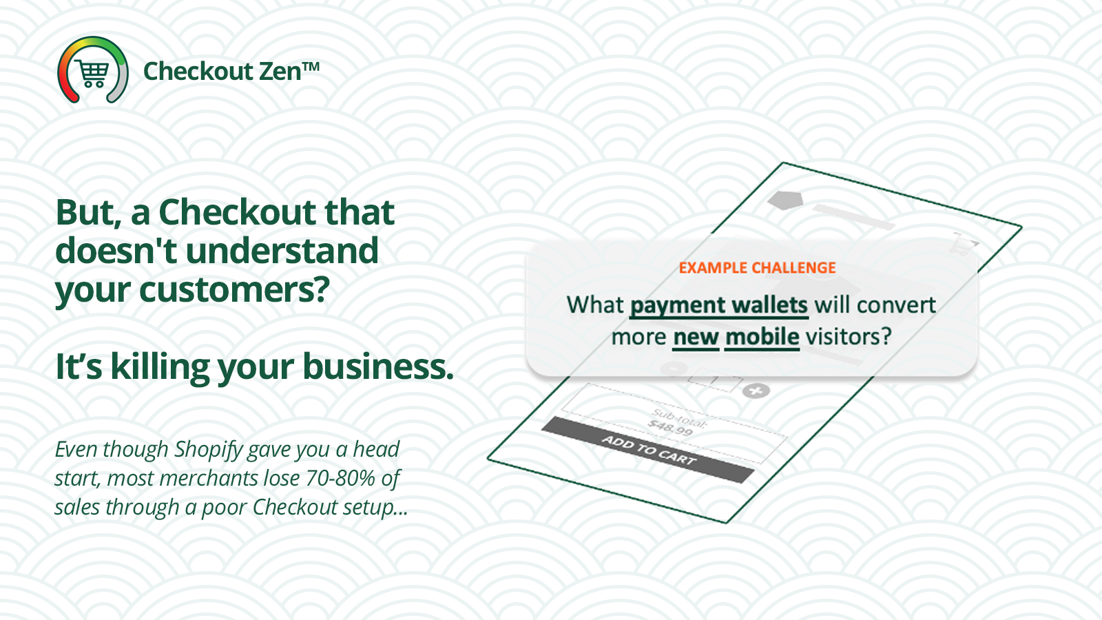 Example of Checkout Zen, HiConvesrion's Shopify app for eCommerce brands