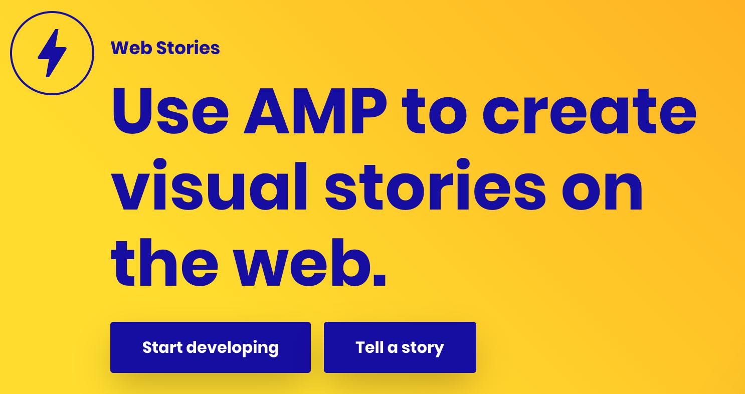 Web Stories by AMP website screenshot