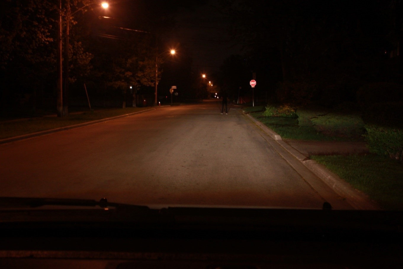 Streetlight working - 3 seconds before collision