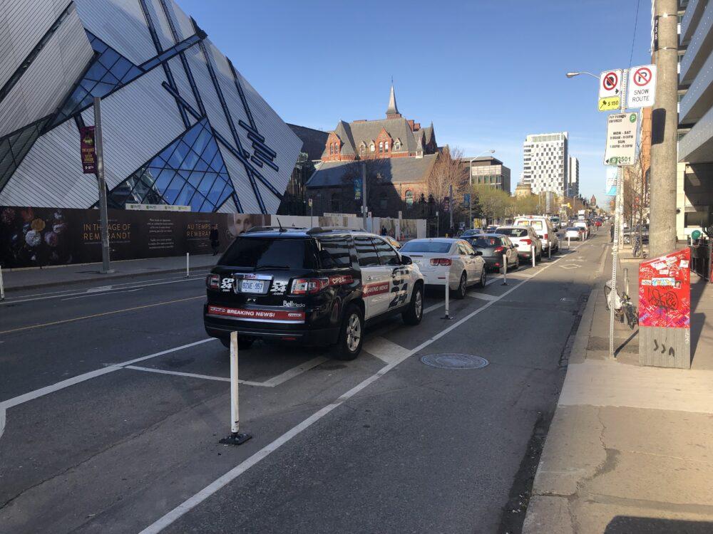Bicycle Lane on Bloor Street in Toronto