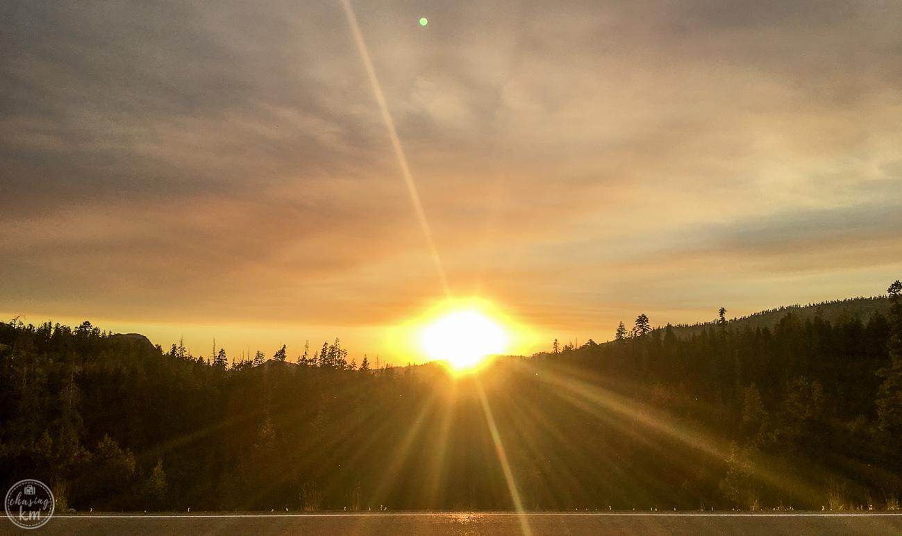 sunset, caples lake, south lake tahoe